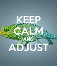 Poster: KEEP CALM AND ADJUST