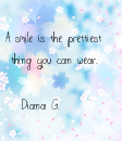 Poster: A smile is the prettiest