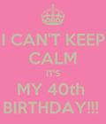 #40th birthday