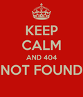 AND 404 NOT FOUND