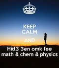 #math #chemistry #physics