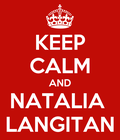 KEEP CALM NATALIA LANGITAN