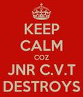 KEEP CALM COZ JNR C.V.T DESTROYS