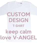 CUSTOM DESIGN T-SHIRT keep calm love V-ANGEL