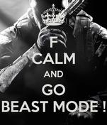 F CALM AND GO BEAST MODE !