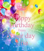 Happy Birthday Enjoy Your day Lisa