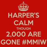 HARPER'S CALM THOUGH 2,000 ARE GONE #MMIW