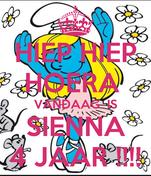 HIEP HIEP HOERA  VANDAAG  IS SIENNA 4 JAAR !!!!