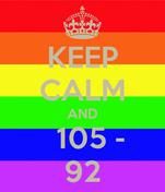 KEEP CALM AND   105 - 92