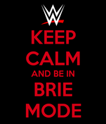 KEEP CALM AND BE IN BRIE MODE