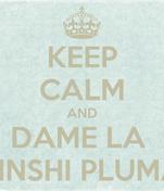 KEEP CALM AND DAME LA  PINSHI PLUMA