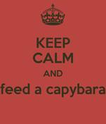 KEEP CALM AND feed a capybara