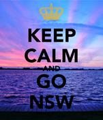 KEEP CALM AND GO NSW