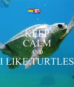 KEEP CALM AND I LIKE TURTLES