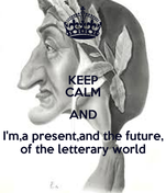 KEEP CALM AND I'm,a present,and the future, of the letterary world
