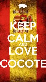 KEEP CALM AND LOVE COCOTE