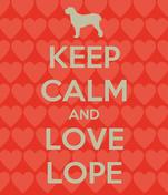 KEEP CALM AND LOVE LOPE