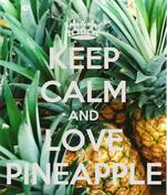 KEEP CALM AND LOVE PINEAPPLE