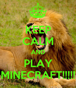 KEEP CALM AND PLAY MINECRAFT!!!!!