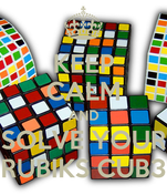 KEEP CALM AND SOLVE YOUR RUBIKS CUB3