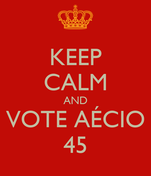 KEEP CALM AND VOTE AÉCIO 45