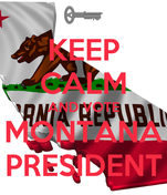 KEEP CALM AND VOTE MONTANA PRESIDENT