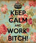 KEEP CALM AND WORK  BITCH!