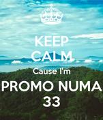 KEEP CALM Cause I'm PROMO NUMA 33