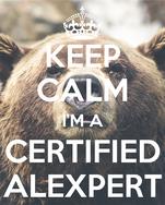 KEEP CALM I'M A CERTIFIED ALEXPERT