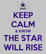 KEEP CALM & KNOW THE STAR WILL RISE