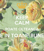 KEEP CALM POATE OLTEANCA E IN TOANE BUNE !!!