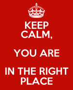 KEEP CALM, YOU ARE IN THE RIGHT PLACE