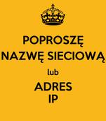POPROSZĘ NAZWĘ SIECIOWĄ lub ADRES IP