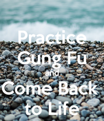 Practice Gung Fu and Come Back  to Life
