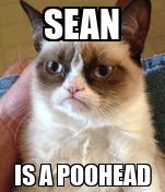SEAN IS A POOHEAD