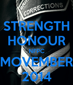 STRENGTH HONOUR NFPC MOVEMBER 2014