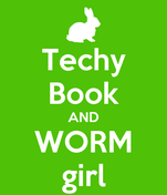 Techy Book AND WORM girl