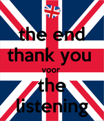the end thank you  voor  the listening