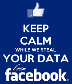 Poster: KEEP CALM WHILE WE STEAL YOUR DATA