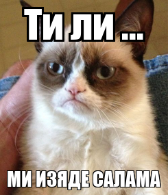 Poster: Ти ли ... МИ ИЗЯДЕ САЛАМА