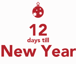 Poster:  12 days till New Year