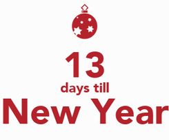 Poster:  13 days till New Year