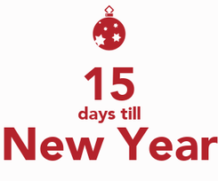 Poster:  15 days till New Year