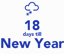 Poster:  18 days till New Year