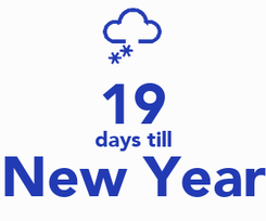 Poster:  19 days till New Year
