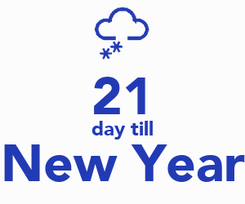 Poster:  21 day till New Year