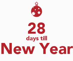Poster:  28 days till New Year