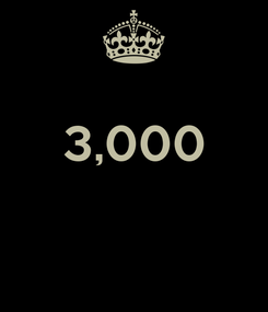 Poster:  3,000