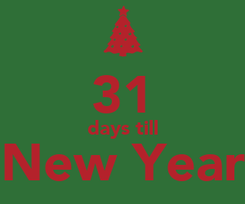 Poster:  31 days till New Year