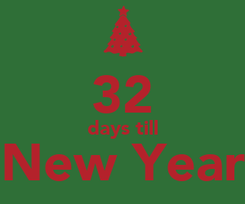 Poster:  32 days till New Year